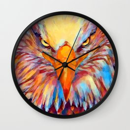 Bald Eagle Watercolor Wall Clock