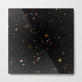 Beautiful Universe Ultraviolet Deepfield Galaxy Universe Star Map Metal Print