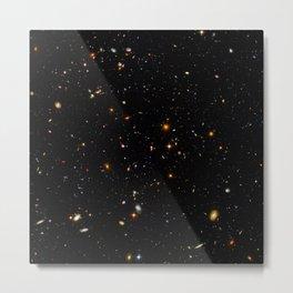 Beautiful Universe Ultraviolet Deepfield Galaxy Universe Star Map Metal Print