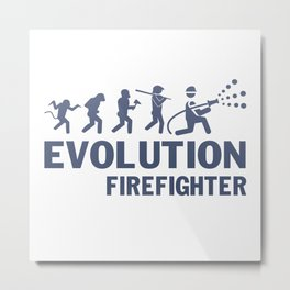 Evolution - Firefighter Metal Print