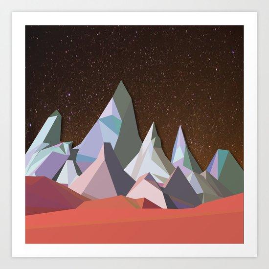 Night Mountains No. 30 Art Print