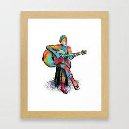 The guitarist Framed Art Print