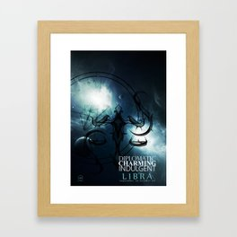 Libra-Diplomatic, Charming, Indulgent Framed Art Print