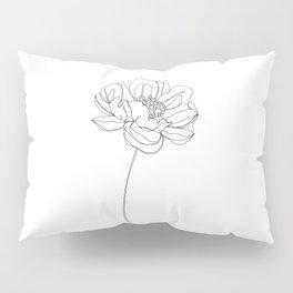 Single flower line drawing - Hazel Pillow Sham