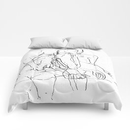 Pale Woman Comforters