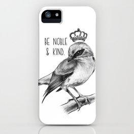 Bird and Quote by Magda Opoka | Animals | Painting | Illustration iPhone Case