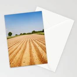 Ploughed agriculture field empty Stationery Cards