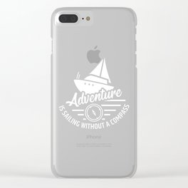 Sailing Boat Sailbook Sailing Sailor Clear iPhone Case