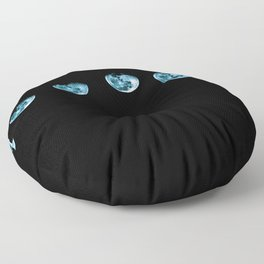 Blue Moon Goddess Phases Floor Pillow