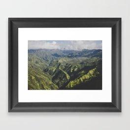 Mountain Ridges - Kauai, Hawaii Framed Art Print