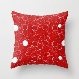 Circles Galore I Throw Pillow