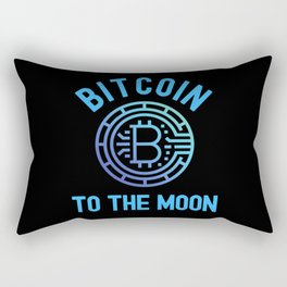 Bitcoin Investor To The Moon Rectangular Pillow