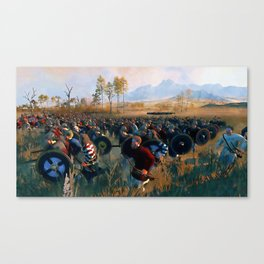 Medieval Army in Battle Canvas Print