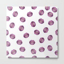 Purple lips  Metal Print