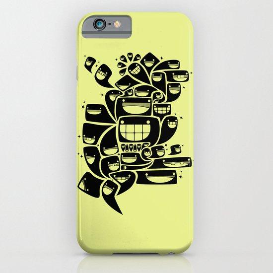 Happy Squiggles - 1-Bit Oddity - Black Version iPhone & iPod Case