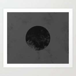 Black Japan Flag Art Print