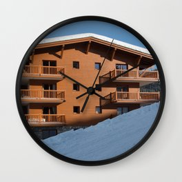 Mountain chalet, holiday home Wall Clock