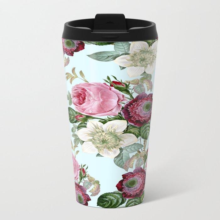 Floral enchant Metal Travel Mug