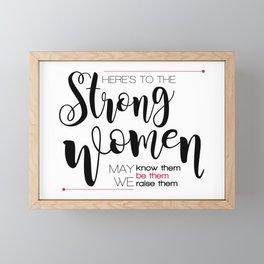 Strong women Framed Mini Art Print