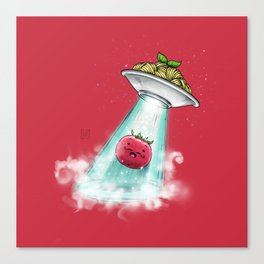 UFO. Italian Spaghetti Dreams Canvas Print