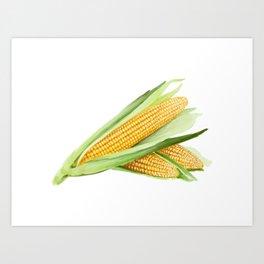 Corns Hand Painting Art Print