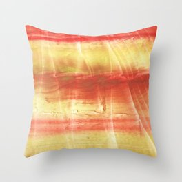 Red yellow Throw Pillow
