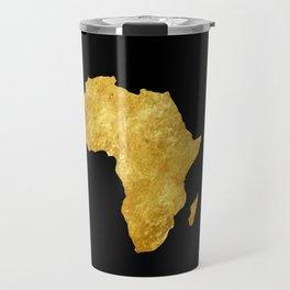 Gold Africa Travel Mug