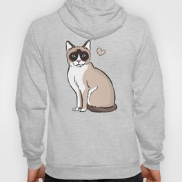 Snowshoe Cat Cartoon Hoody
