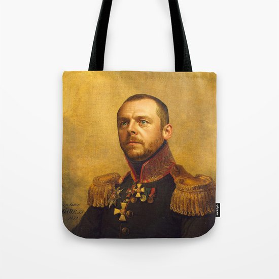 Simon Pegg - replaceface Tote Bag