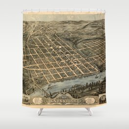 Map Of Knoxville 1871 Shower Curtain