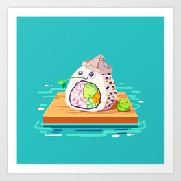 sailing sushi and 'sabi sidekick Art Print