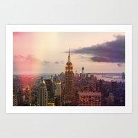 Skyline NYC Art Print