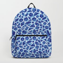 Blue Abstract Geometric Pattern Backpack