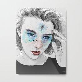 Third eye girl sketch Metal Print