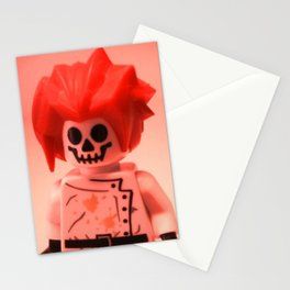 Professor Boom Custom LEGO Minifigure with Bomb by Chillee Wilson Stationery Cards