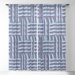 Weaving design Sheer Curtain
