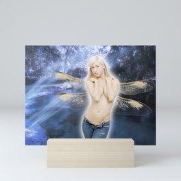 Beautiful, Sexy Topless Blonde Fairy Mini Art Print