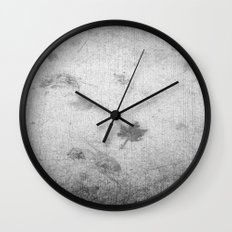 Leaf markings on cement  Wall Clock
