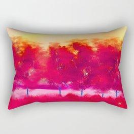 Sunset in Fall Abstract Landscape Rectangular Pillow