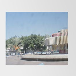 Tel Aviv photo - Dizengoff Square Throw Blanket