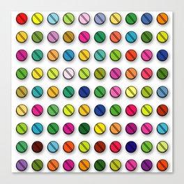 Multi-coloured Pills Pattern square Canvas Print