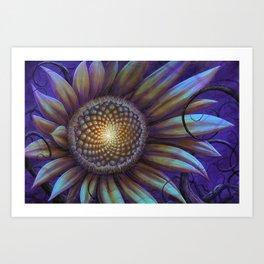 midnight sunflower  Art Print