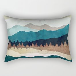 Fall Forest Night Rectangular Pillow