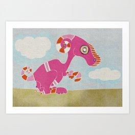 Kangaroo Go-Go Pink Art Print