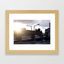Sunset on the Parking Garage Framed Art Print