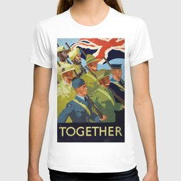 Together - WWII Propaganda Poster T-shirt