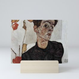 Egon Schiele , self-portrait Mini Art Print