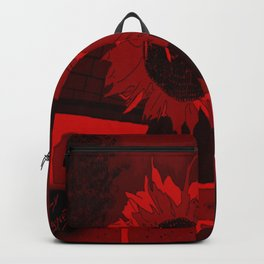 Thee Sunflower in Red by Mgyver Backpack