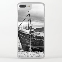 Highland Shipwreck - b/w Clear iPhone Case