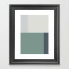 Minimal Abstract Green Framed Art Print